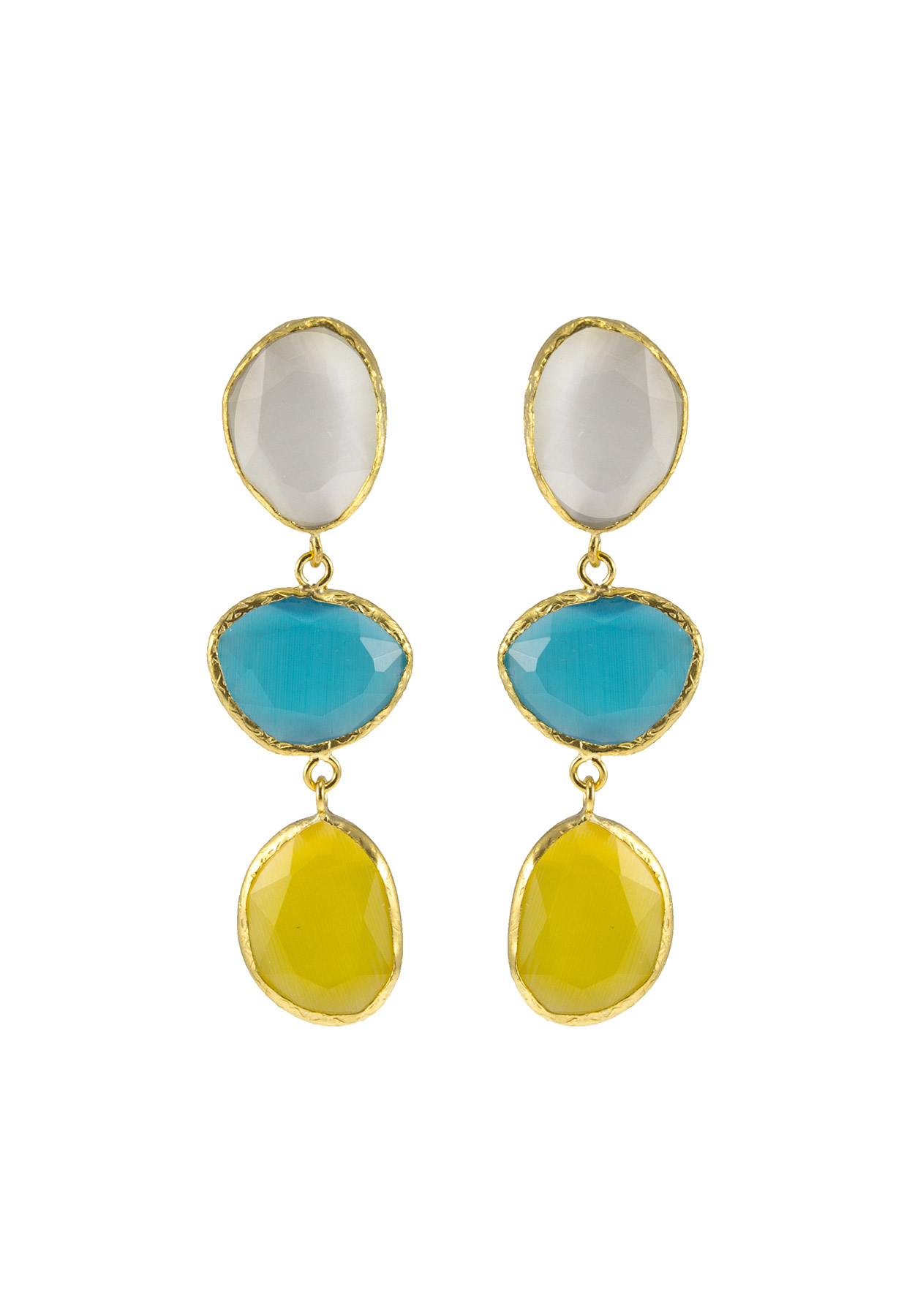crystal and index multicolor drop multi color elise earrings stone